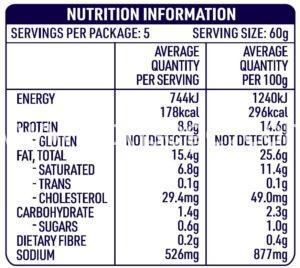 DON™ Pork Cheese Kranksy Sausage Nutrition Information