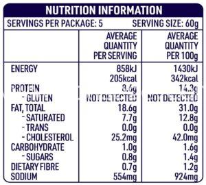 DON™ Pork Chorizo Sausage Nutrition facts